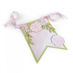662364 Sizzix Thinlits Die Set - Floral Banner By David Tutera